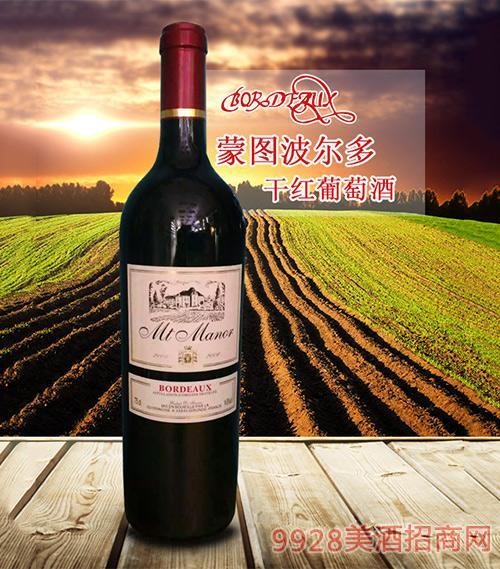 蒙图波尔多干红葡萄酒2008