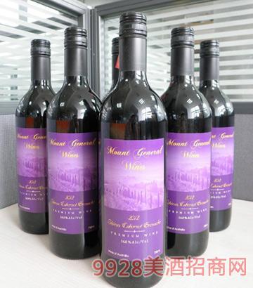 2012将 军山西加歌干红葡萄酒