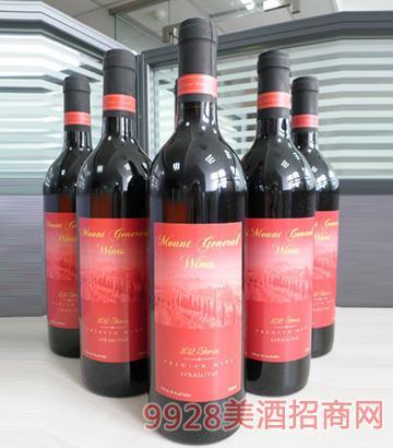 2012将 军山优质西拉干红葡萄酒