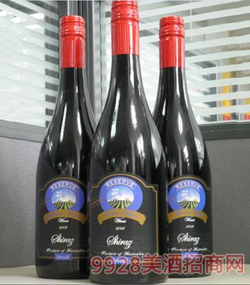 2008珍藏将 军山西拉子干红葡萄酒