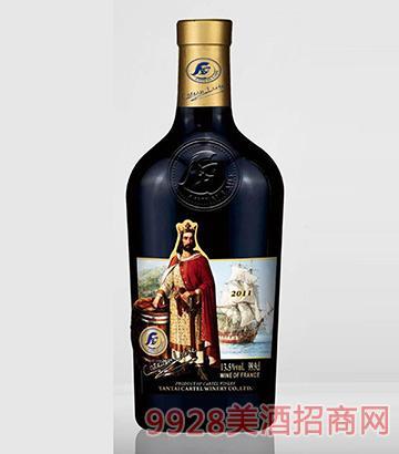 歌图人生 国王 W珍藏干红葡萄酒开模瓶999mlx6