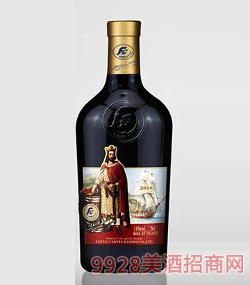 歌图人生 国王 杜兰干红葡萄酒2016(开模瓶)