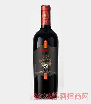 歌图人生 帆船 隆祥黑船干红葡萄酒13.5度