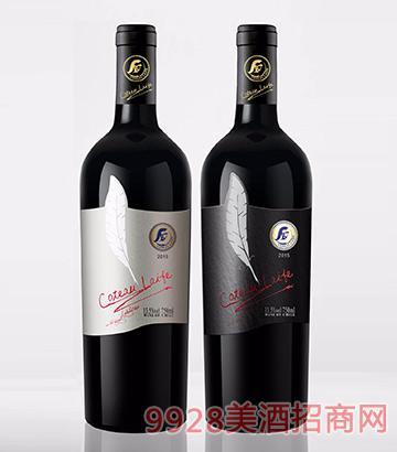 歌图人生 羽毛 埃迪伦(白羽毛)干红葡萄酒13.5度