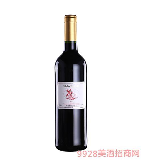 法国风车巴黎红葡萄酒