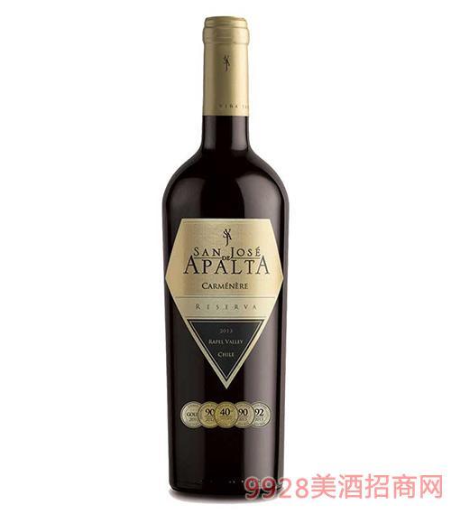 智利圣钻圣何塞阿帕塔珍藏卡门妮雅红葡萄酒