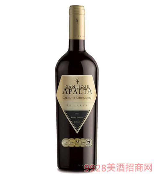 智利圣钻圣何塞阿帕塔珍藏赤霞珠红葡萄酒