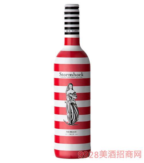 海之酒美乐红葡萄酒