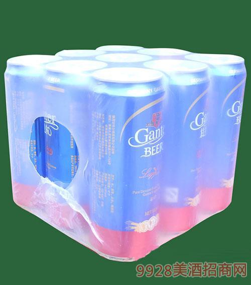 500毫升甘特尔冰纯易拉罐啤酒9罐