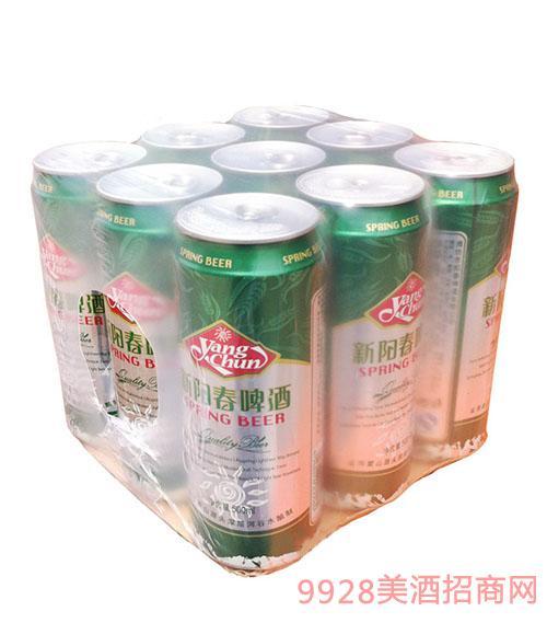 新阳春易拉罐塑包啤酒500ml
