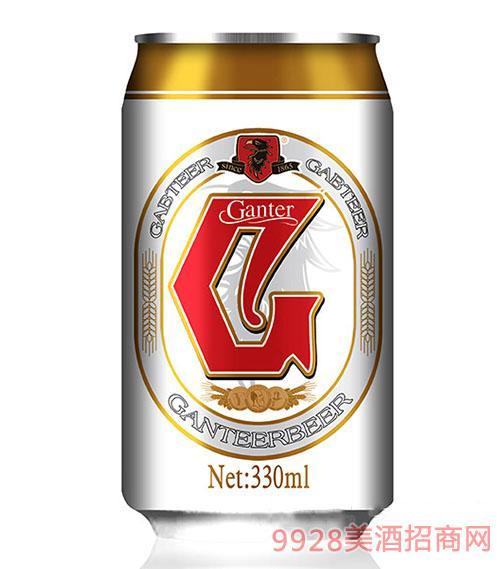 甘特尔啤酒330ml(白罐)