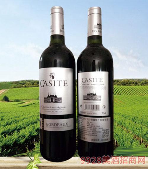 法国GASITE赤霞珠干红葡萄酒(皮箱)13度