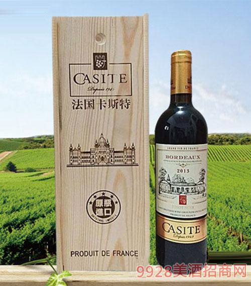 法国GASITE黑比诺干红葡萄酒13度