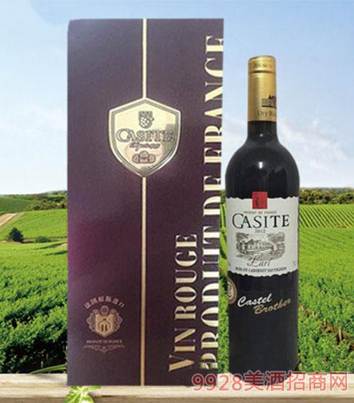 法国卡斯特伯爵红葡萄酒13度