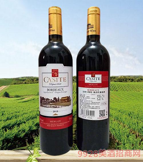 法国卡斯特梅洛红葡萄酒13度