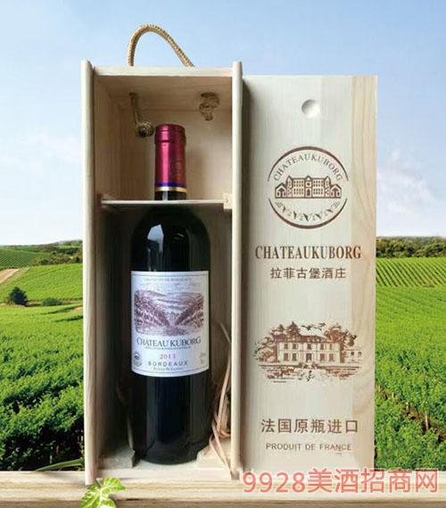 拉菲古堡斯波朗干红葡萄酒(木礼盒)13度