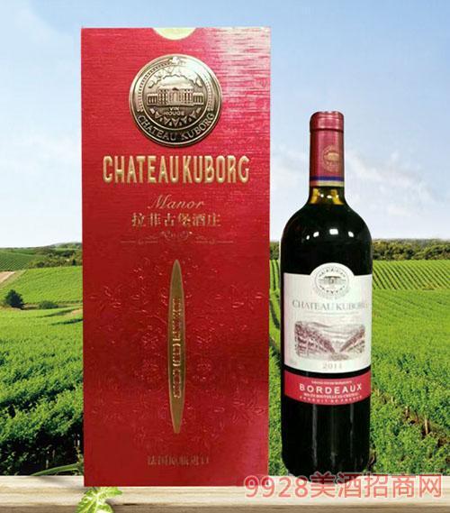 拉菲古堡斯波朗干红葡萄酒(铜标红礼盒)13度