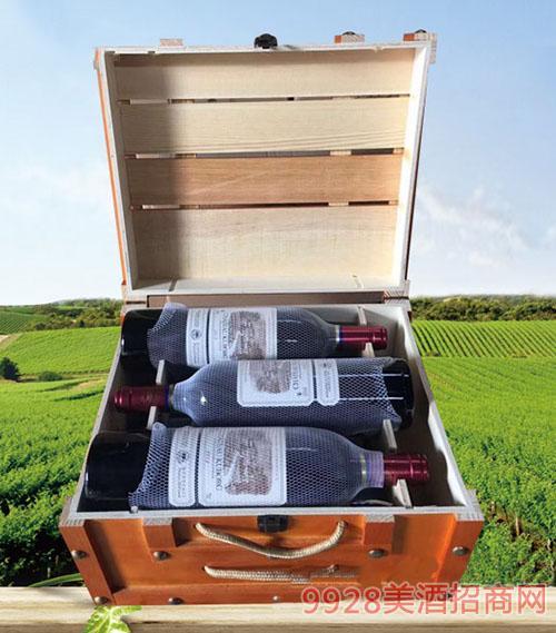 拉菲古斯波朗干红葡萄酒(方木箱)13度