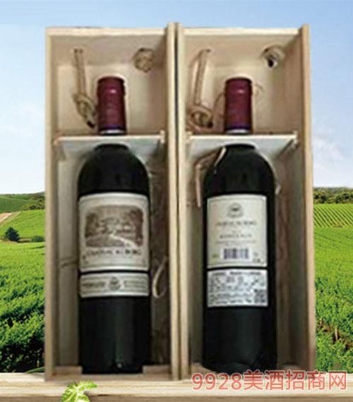 拉菲古斯波朗干红葡萄酒(木箱木礼盒)13度
