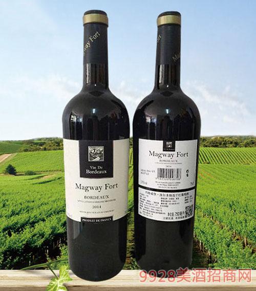 玛格威堡波尔多特选干红葡萄酒13度