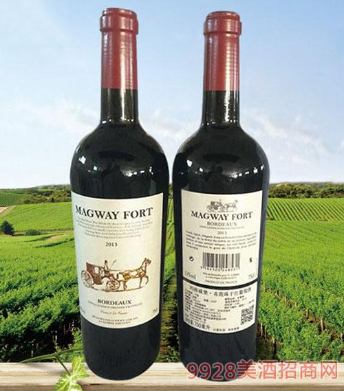 玛格威堡赤霞珠干红葡萄酒13度