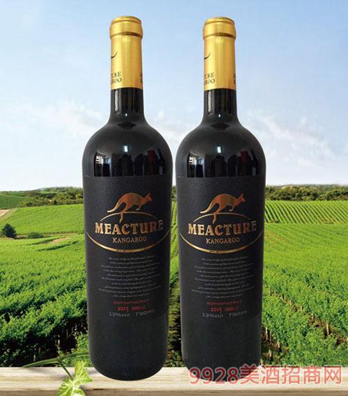 米爵袋鼠西拉干红葡萄酒13度