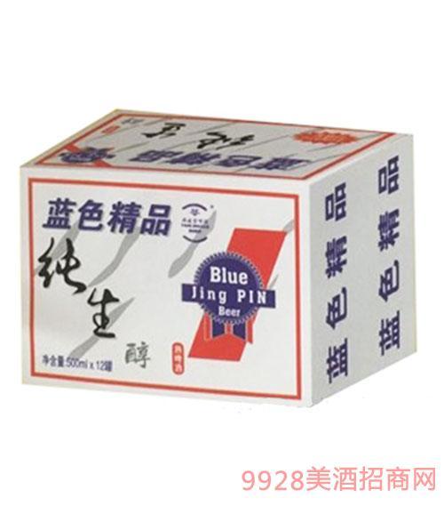 燕凌雪蓝色精品纯生醇啤酒