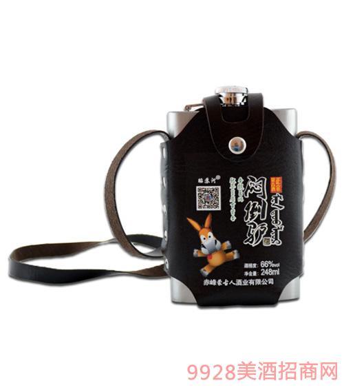 闷倒驴酒(半斤)皮套装66度248ml