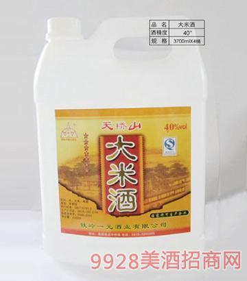 天橋山大米酒40度3700ml