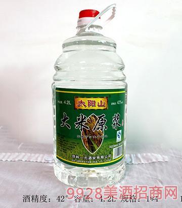 太阳山大米原浆酒42度4.2L