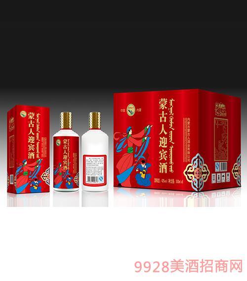 蒙古人迎宾酒500mlx6