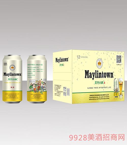 美林小镇啤酒500ml金罐