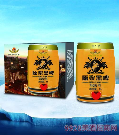亮剑啤酒傲雅原浆黑啤5L
