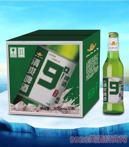 亮剑傲雅清爽啤酒酣畅500ml-瓶啤