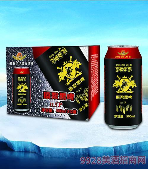 亮剑原浆黑啤500ml-易拉罐