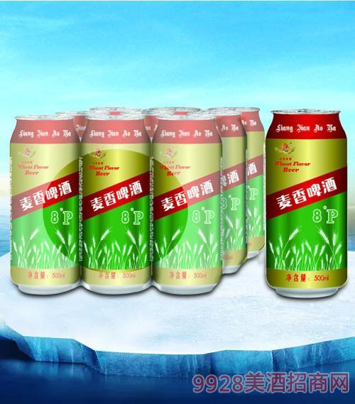亮剑麦香啤酒罐装500ml塑包-易拉罐