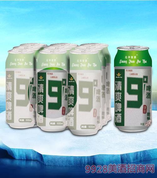 亮剑清爽啤酒500ml塑包-易拉罐