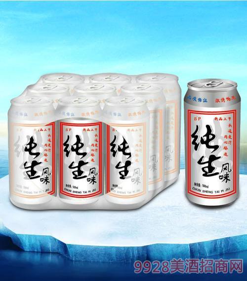 亮剑纯生风味啤酒500ml塑包-易拉罐