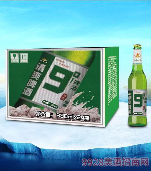 亮剑清爽9度啤酒330ml瓶啤