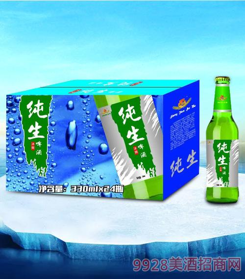 亮剑纯生啤酒绿瓶330ml瓶啤