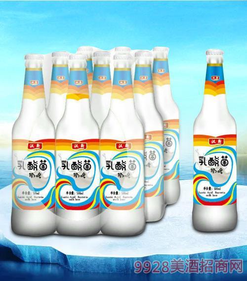 汉斯乳酸菌奶啤瓶装塑包500mlx9