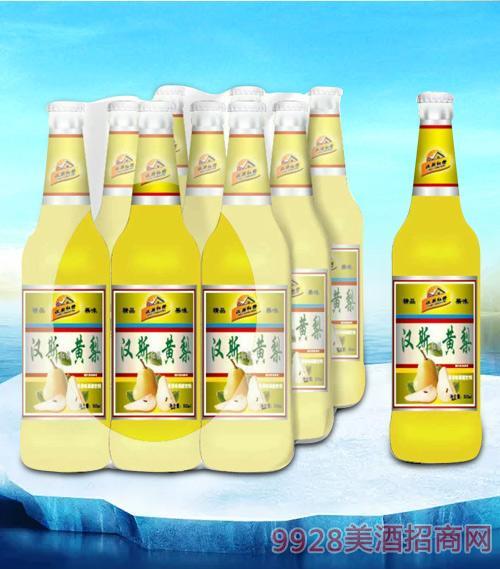 亮剑啤酒汉斯黄梨碳酸饮料-果啤