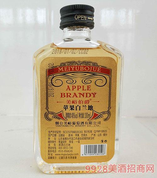美峪伯爵苹果白兰地酒40度100ml