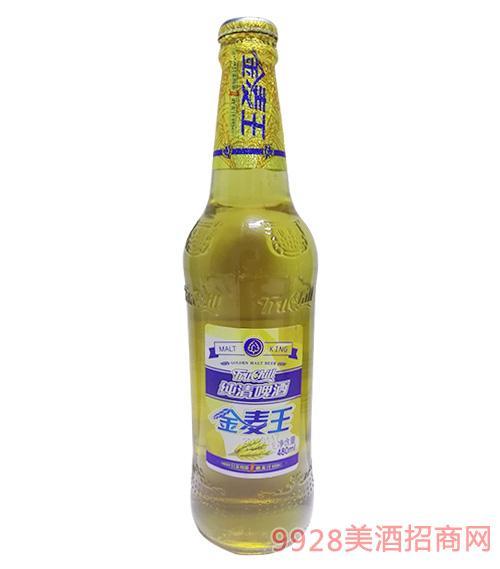 百威雁蕩山啤酒金麥王480ml