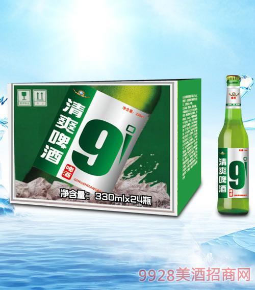 青杰清爽啤酒330ml瓶啤