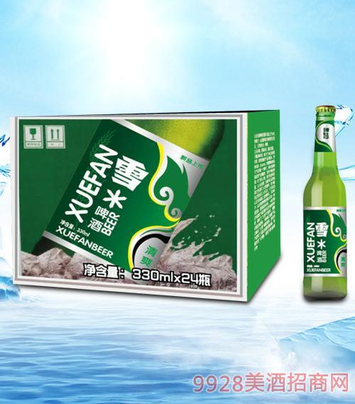 青杰雪啤酒330ml瓶啤