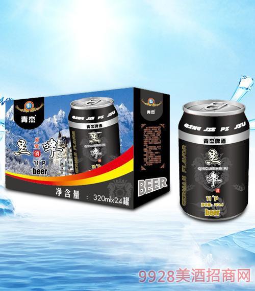 青杰啤酒黑啤320mlx24