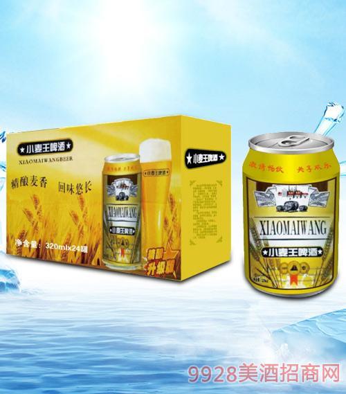 青杰小麦王啤酒320mlx24-易拉罐