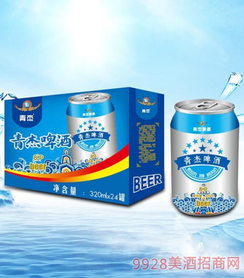 青杰啤酒320mlx24-易拉罐