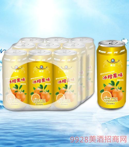 青杰冰橙果味碳酸饮料500mlx9